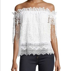 Elie Tahari off the shoulder top